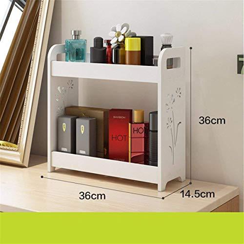 Willesego Freistehendes Bücherregal/Tischplatte Organisation Kosmetik-Kassette Desktop-Eitelkeits-Badezimmer-Gestelle B - Badezimmer-eitelkeit-holz-eitelkeit