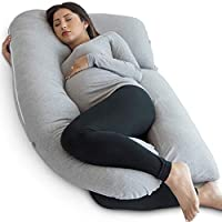 PharMeDoc Pregnancy Pillow, U-Shape Full Body Pillow Maternity Support Detachable Extension - Support Back, Hips, Legs, Belly Pregnant Women…