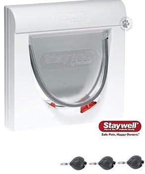 Fourni Avec Trois Keys The Staywell Magnétique 4 Voies Fermeture Classic 932 Chatière