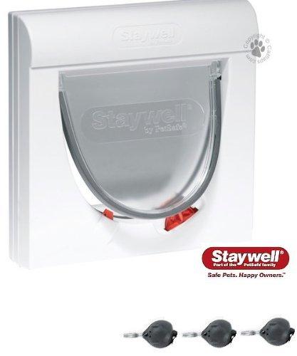 Enthalten Mit Drei Schlüssel The Staywell Magnetisch 4-wege Schloss Classic 932 Katzenklappe