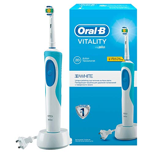 Oral-B Vitality White & Clean - Cepillo de dientes eléctrico con tecnología Braun