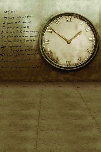 amonamour-vintage-braun-fotohintergrunde-buchstabedruckes-wand-betonboden-uhr-studio-fotohintergrund