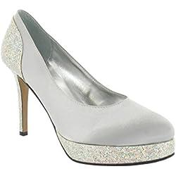 Ladies Lexus High Heel Platform Shoe with Glitter Design.