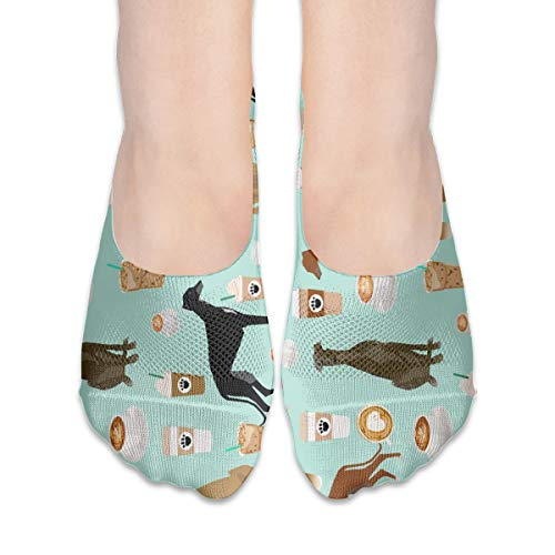 New Hats Cute Greyhounds Mint Coffee Best Coffees Latte Cute Coffee Coffee Rescue Greyhounds Cotton Low Cut Socks Non-Slip Grips Casual for Men and Women -