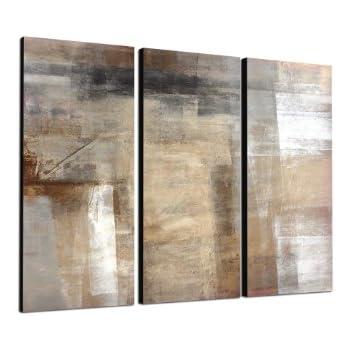 abstraktes wandbild beige r tlich altrosa 150x50cm panorama wandbild auf leinwand und. Black Bedroom Furniture Sets. Home Design Ideas