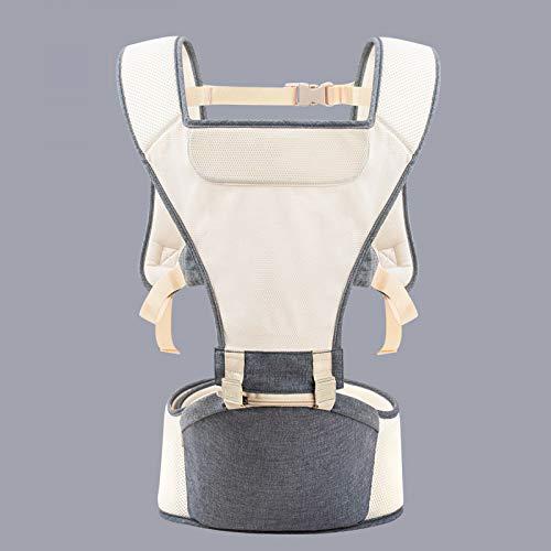 Imbracatura per bambini seduta anteriore anteriore multifunzione seduta lombare panca con artefatto a tutto tondo ventilazione bambino, grigio