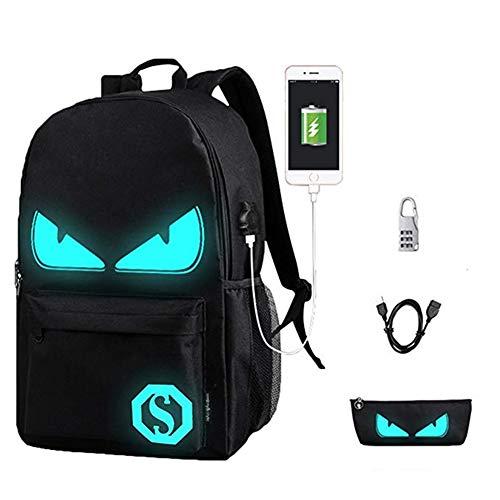 WYCY Anime Cartoon Luminous Backpack mochila moda