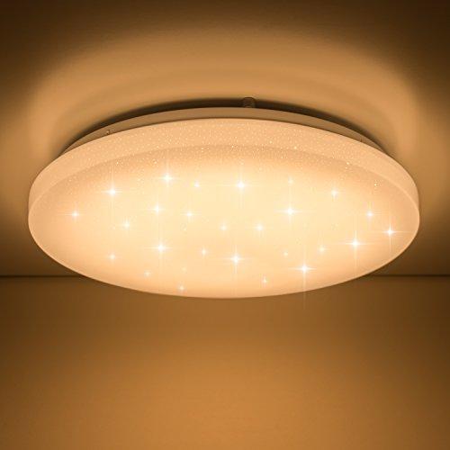 VINGO®LED Deckenleuchte Starlight Wandlampe (16w Rund Warmweiß)