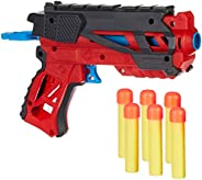 Amazon Brand - Jam & Honey Super Toy Gun Set, Red, with Soft Foam Bullets, Eye Protection Glasses, Target