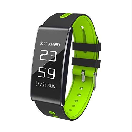 Jjek Sportuhr Fitness Tracker, wasserdichter Activity Tracker mit Herzfrequenz-Blutdruckmessgerät mit Schlaf-Tracking-Kalorienzähler, Schrittzähler-Uhr Unisex Kalorien (größe : Grün)