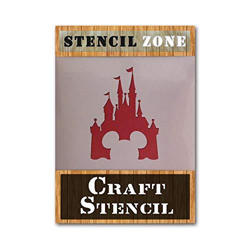 Mickey Mouse Castle Mylar AirRush Malerei Wand-Deko Stencil -