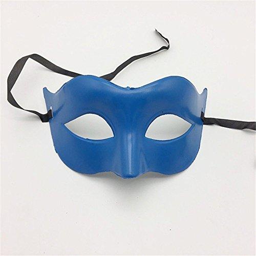 Masken Gesichtsmaske Gesichtsschutz Domino falsche Front Glamour Herren Maske Halloween Make-up Abschlussball Maske Damen Volltonfarbe Minimalistisch Half Face Zorro Maske Maske Blau