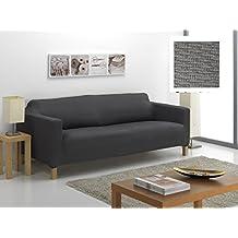 Funda de Sofá Elástica KARLSTAD, 3 plazas - Desde 180 a 240 cm. Color Gris (MODELO EXCLUSIVO FUNDA Sofá KARLSTAD IKEA)