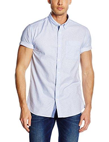 Button-down One Pocket Shirt (JACK & JONES PREMIUM Herren Slim Fit Freizeit Hemd jjprDAVID PRINT SHIRT S/S ONE POCKET, Gr. Large, Mehrfarbig (White Detail:AOP))