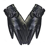 LF-ST Pantalla táctil Guantes Invierno Hombre PU Plus Terciopelo Impermeable Caliente