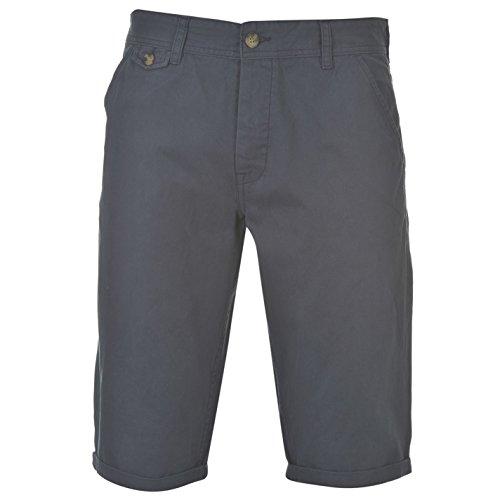 Kangol Herren Chino Shorts Sporthose GUertelschlaufen Taschen Freizeit Kurze Hose Blau XXXXL
