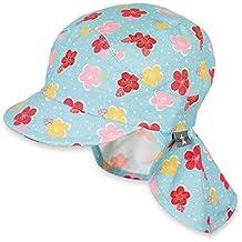 Sterntaler Bonnet avec visière et protège-cou pour filles, ... 44d24f3a572