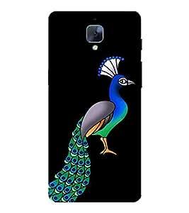 FUSON amazing peacock beautiful bird national bird Designer Back Case Cover for OnePlus 3T