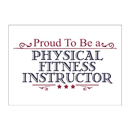 Teeburon Proud to BE a Physical Fitness Instructor Aufkleber x4 6
