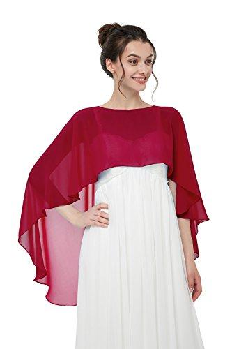TBdresses Chiffon Braut Hochzeit Capes Wraps Frauen Abendkleid Stola Brautjungfer Schals Braut Wrape...