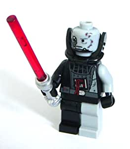 lego star wars minifigur darth vader vom kampf gezeichnet mit rotem laserschwert. Black Bedroom Furniture Sets. Home Design Ideas