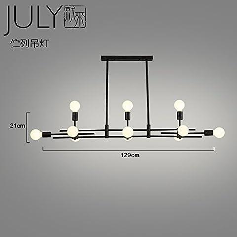 Lustre d'Air industrielRestaurant antique boutiques créativesLoftLe café-bar long lampes rétro11, de la lumière