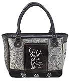 Domelo Tracht Damen Trachtentasche Dirndltasche große Shopper Handtasche Handgelenktasche Vintage Tasche Canvastasche traditionell Wiesn Oktoberfest