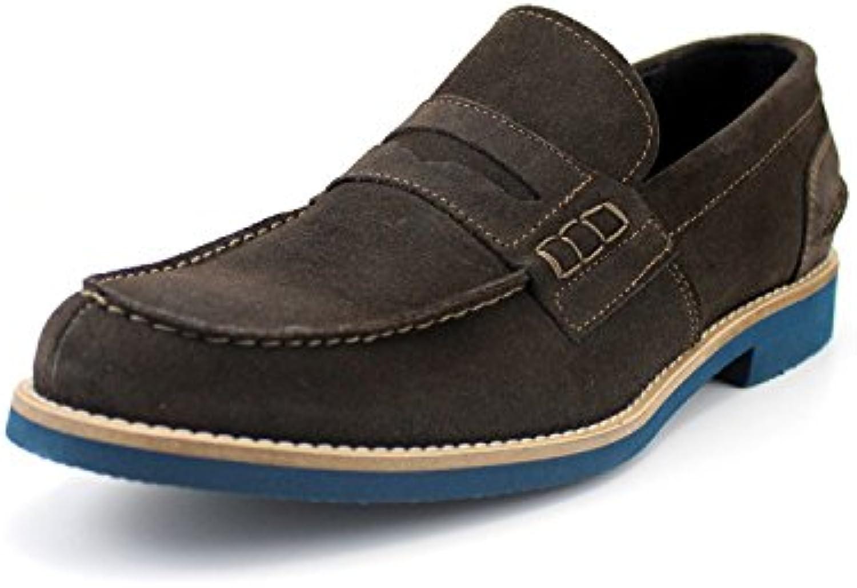 GIORGIO REA Herren Schuhe Maumlnnliche Handgemachte Italienische Schuhe  Leicht und Komfortabel Faulenzer  Freizeitschuhe