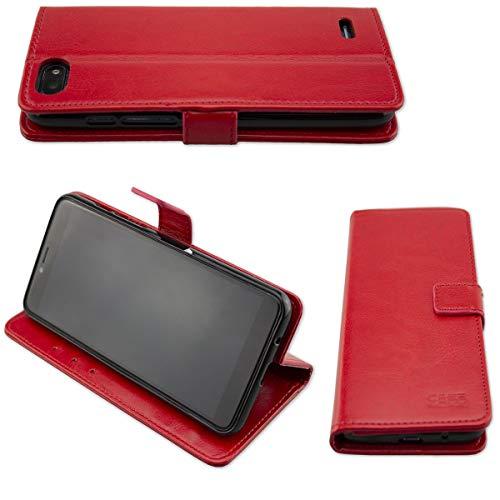caseroxx Hülle/Tasche Bookstyle-Case Archos Core 57s Handy-Tasche, Wallet-Case Klapptasche in rot