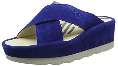 Fly London Begs793fly, Sandali a Punta Aperta Donna Blu (Blue)