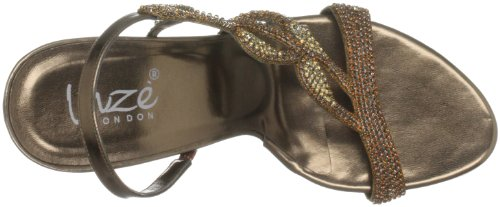 Unze Evening Sandals, Sandali col tacco donna Marrone (Braun (L18192W))