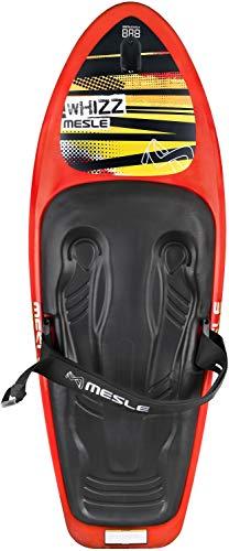 MESLE Kneeboard Whizz Hook, Robustes Slalomboard mit Hantel-Haken, Rot-Schwarz