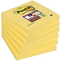 Post-It Notes Super Sticky Jaunes - 76 x 76 mm - Lot de 6 Blocs