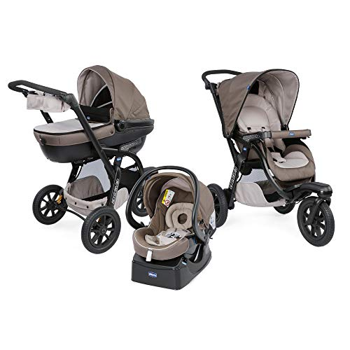 Chicco Trio-System Activ3 Top Kombikinderwagen 3 in 1 mit Kit Car 07079270720000, dove grey