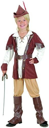 Robin Hood Kinderkostüm braun-weiss 104/116 (4-6 -
