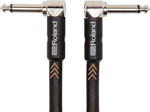 Roland Black-Serie Patch/Pedal-Kabel - gewinkelte 6,3-mm-Klinkenstecker, Länge: 1m - RIC-B3AA -