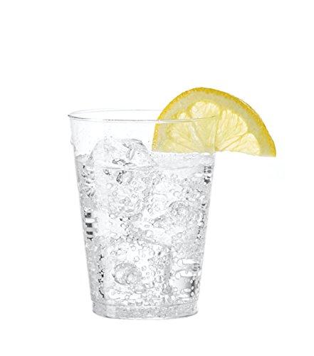 Embellecer-Crystal-Clear-plstico-duro-7oz-fiesta-vasosvasos-Transparente-40-Pcs