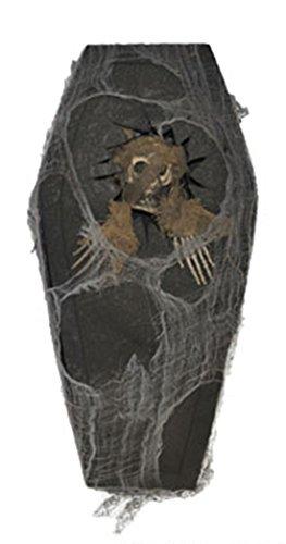 Dildoridoo - Halloween Dekoration Sarg mit ausbrechender Mumie Party, 1 Stück, 41x20x6cm , Braun