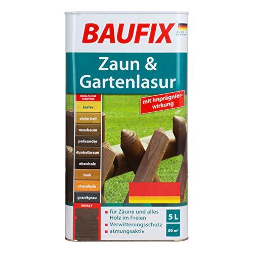 Baufix Zaun & Gartenlasur Zaunlasur Gartenlasur Dunkelbraun Teak Ebenholz Nussbaum Palisander (Palisander)
