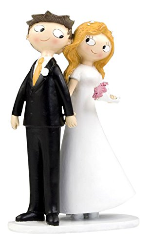 Mopec Pop & Fun - Figure for wedding cake wedding couple hand, 21,5 cm, color white broken