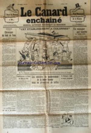 CANARD ENCHAINE (LE) [No 715] du 12/03/1930 - AU LOUVRE - LES MINISTRES DU GOUVERNEMENT DE LA BONNNE HUMEUR NOUS EN PROMETTENT DE BELLES - MORINAUD A FONDE UN NOUVEL INTERGROUPE - PAUL REYNAUD / CET ETABLISSEMENT A COLONNES - UN MASQUE QUI TOMBE PAR SCIZE - LA BOURSE ET PAUL REYNAUD