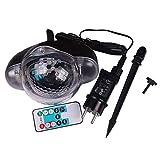 Mountxin Snowfall LED Light Snowflake Projector Lamp Waterproof Lawn Lamp for Christmas - Black