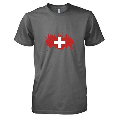 TEXLAB - Splash Schweiz - Herren T-Shirt, Größe L, (Maskottchen Kostüme Pro)