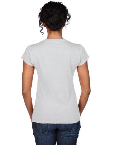 Gildan doux style T-shirt pour femme avec col en V 64V00l Blanc - Blanc