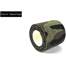 BestMall–Mixed 5m * 4,5cm–cinta americana de camuflaje impermeable caza Camping Stealth cinta Wraps, Forest Camouflage