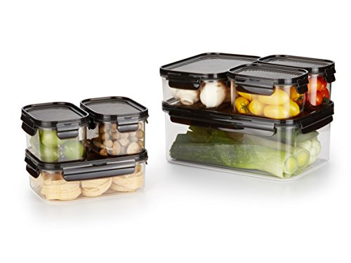 LOCK & LOCK Premium, 14-Piece Set, Crystal Clear, BPA Free, 100% Airtight, Food Storage Container with Lid