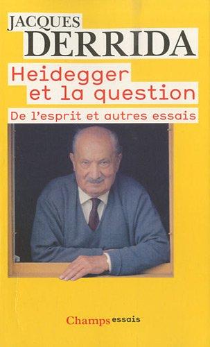 Heidegger et la question : De l'esprit, Différence sexuelle, différence ontologique (Geschlecht I), La main de Heidegger (Geschlecht II)