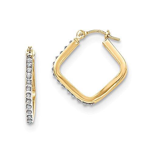mit 14Karat (585) Gelbgold Diamant mit-Creolen 20mm (18mm x)