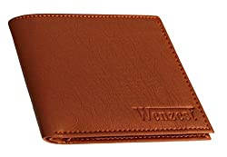 Wenzest Tan Mens Formal Wallets with 10 card packets