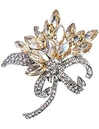 b1136ed99209 Spille qinlee spille fiori stile scialle Colletto Pin semplice stile  abbigliamento decorazioni gioielli regalo per donna…